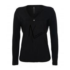 Zip73 trui v-hals zwart/zwart